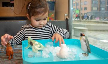 Echte ijsrotsen bouwen bij peuteropvang - Up Kinderopvang aan de P.C. Boutenslaan in Rijswijk