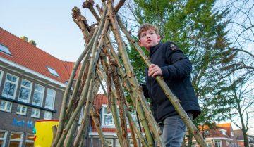 Hutten bij buitenschoolse opvang - Up Kinderopvang aan Caspar Fagelstraat in Delft