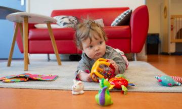 Kruipen en ontdekken bij kinderdagverblijf - Up Kinderopvang aan de Daniël Catterwijckstraat in Rijswijk