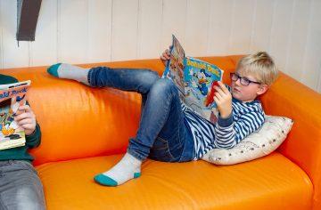 Ontspannen met een stipboek bij buitenschoolse opvang - Up Kinderopvang aan Caspar Fagelstraat in Delft