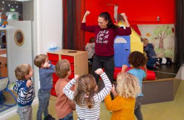 Peutergym bij kinderdagverblijf - Up Kinderopvang aan de Daniël Catterwijckstraat in Rijswijk