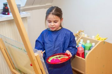 Picasso aan het werk bij buitenschoolse opvang - Up Kinderopvang aan Caspar Fagelstraat in Delft